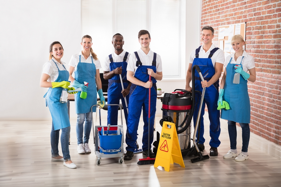 TRM cleanng services team